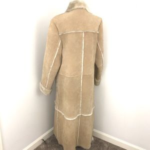Womens 100% Suede Leather Heavy Coat sz M